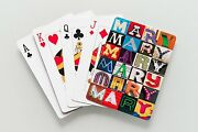 Personalized Playing Cards Featuring Mary In Letters From Photos Of Signs
