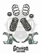 Chevy C10 4/4 Lowering Kit 1971 1972 Gmc C15 Drop Spindles Coil Springs Belltech