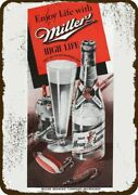 1942 Miller High Life Beer And Fishing Vintage Look Decorative Replica Metal Sign