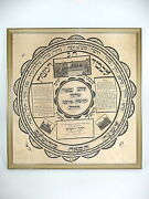 Bedeutendes Judaica Picture In The Frame Painting On Silk About 1920 Judaica