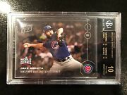 Jake Arrieta 2016 Topps Now 632 As Cy Oct 26 Cubs World Series - Bgs 10 Black