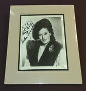 Barbara Stanwyck / Custom Matted Autographed Photo.