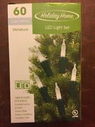 Lot Of 14 Sets Of Brand New Cool White Led Mini Christmas Lights - 60 Count