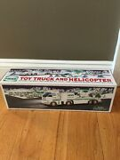 2006 Hess Toy Truck And Helicopter Real Head And Tail Lights Original Box