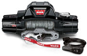 Warn 95950 Zeon 12s 12000 Lb Premium Series Winch 80and039 Synthetic Rope Hawse 12-s