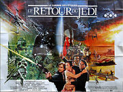 Return Of The Jedi - Huge French Movie Poster - 157 X 118 In.- Star Wars Lucas