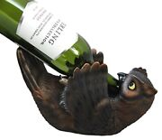 Collectibles Americas Great Horned Owl Wine Bottle Holder Caddy Figurine 10l