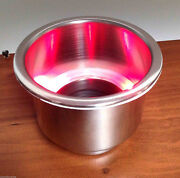 Marine Boat Rv Camper Red Led Ss Cup Drink Holder With Drain Tube