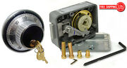 Lagard Combination Lock 3330 With 1779 Key Locking Dial And Ring Set- Satin Chrome