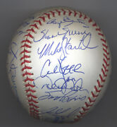 1999 Ny Yankees World Champions Team Autographed Ball 28 Gem Mint And Complete