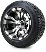 Golf Cart Wheels And Tires Combo - 10 Vampire Ss W/ Low Pro Tires - Set Of 4