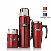 New Thermos Stainless King 3 Piece Insulated Set Food Jar Travel Mug Flask