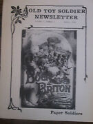 1981 Old Toy Soldier Newsletter - Introduction To Paper Soldiers Edwardian
