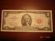 1963 2 Dollar Bill Note Low Plate Numbers Us Currency Paper Money Mm46