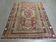4and039 X 6and039 Antique Hand Made Caucasian Shirvan Russian Armenian Wool Rug Colorful