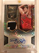 2014-15 Panini Select Doug Mcdermott Black Rookie Patch Auto Rc One Of One 1/1