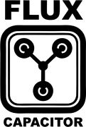 Back To The Future Flux Capacitor Vinyl Car Window Laptop Decal Sticker