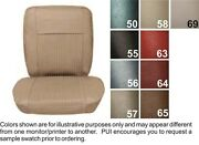 62-64 Chevy Ii / Nova / Ss Brt Red Front Buckets And Split Bench Seat Covers - Pui