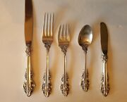 Reed And Barton El Greco 12 Settings - 5 Pieces Sterling Silver  60 Pieces