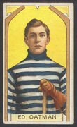 1911-12 C55 Imperial Tobacco Hockey 5 Ed Oatman Stanley Cup Champ Rookie Card