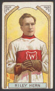 1911-12 C55 Imperial Tobacco 32 Riley Hern Goalie 1st Nhl Stanley Cup Champion