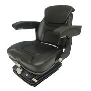 Vam1270 Tractor Seat Assembly Black Vinyl Seat W/ Arm And Head Rest
