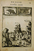 1683 Genuine Antique Map Mt Sinai, Convent And Chapel St Catherine. A.m. Mallet