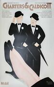 Seymour Chwast Charters And Caldicott 68.5 X 47.5 Lithograph 1986 Vintage Black