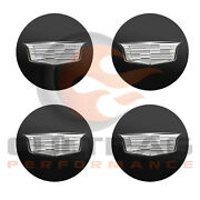 2015-2019 Cadillac Cts Gm Black Center Cap Silver Crest Set Of 4 19329257