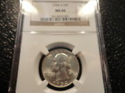 1954-s Washington Silver Quarter Ngc Ms 66 Very Collectible And Affordable Coin