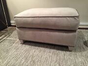 Wonderful Donghia Main Street Ottoman Fully Upholstered In Grey Chenille