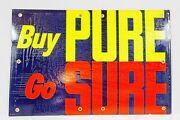Vintage 1959 Pure Oil Gas Station Sign Cardboard Display Buy Pure Go Sure