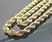 New 10kt Yellow Gold Thick Rope Chain 12mm 24 26 28
