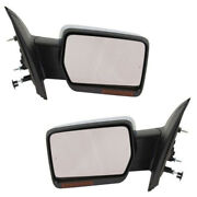09-10 F150 Rear View Mirror Power Heated With Memory Turn Signal Chrome Pair Set