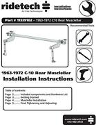 Ridetech 63-72 Chevy C-10 Truck Rear Musclebar Sway Bar For Strong Arm 11339102