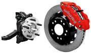 Wilwood Front Disc Brake Kit And Drop Spindles71-87 Chevy C10gmc C1513red