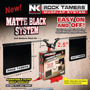 Rock Tamers 2.5 Hitch Mounted Mud Flap System Truck Rv Suv Motorhome Mudflaps