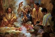 Opening The Sacred Bundle By Howard Terpning. Sold Out Edition - Mint