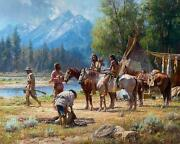 Snake River Culture By Martin Grelle. Magnificently Framed Grande Edition Mint