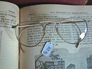 Rare Antique Mo-ro 12k Gold Filled Etched Wire Eyeglasses Original Case