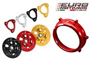 Cnc Racing Red Clutch Cover+spring Retainer+pressure Plate For Ducati Panigale