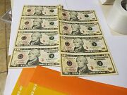 Two Consecutive Serial Number Uncut Sheets Of 10 Unc 2009 Federal Reserve Notes