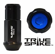 32 True Spike 57mm 14x1.5 Forged Steel Lug Nuts Blue Capped Closed End