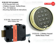 Sargent And Greenleaf Sandg 6120-301 Electronic Keypad And Lock Kit - Buffed Brass