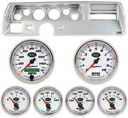 70-72 Chevelle Ss Silver Dash Carrier W/ Auto Meter Nv Gauges