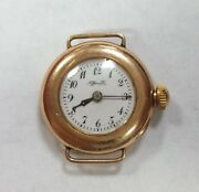 And Co Gold Ladies Vintage Watch Rare 26mm 18k Solid Yellow Gold 76838