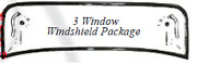Ford 3 Window / 3w Coupe Plain Steel Stock Height Windshield Frame Kit 1932