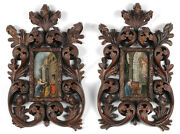 Hans Schor 1585-1674-attrib., Two Oil On Copper Miniature Religious Paintings