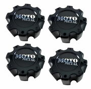 4x Moto Metal Black Wheel Center Caps 6 5/8 8 Lug For Mo909 Mo957 Mo959 Rims