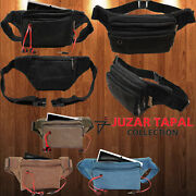 Lot Of 48 Defectives Denim Canvas Fanny Pack Bally Bags Fits Most Smart Phones